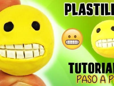 ✅COMO HACER UN EMOJI DE PLASTILINA CON DIENTES OOPS!   ✅  POLYMER CLAY  - MI MUNDO DE PLASTILINA