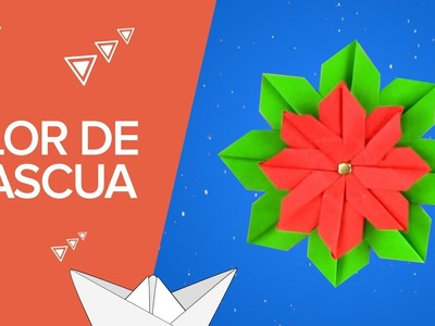 Flor de Pascua de origami | Manualidades infantiles de papel