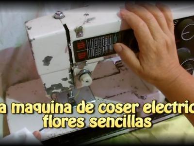 La maquina electrica de coser flores sencillas |Creaciones y manualidades angeles