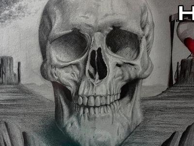 Aterrador Dibujo de una Calavera a Lápiz - Especial Halloween