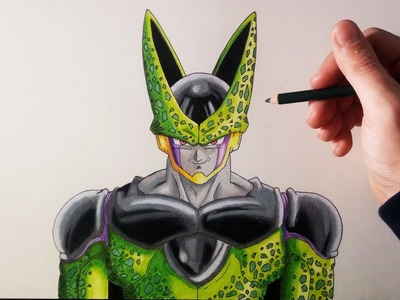 Cómo dibujar a Cell Perfecto Paso a paso   How to draw Perfect Cell   ArteMaster   Dragon Ball Z