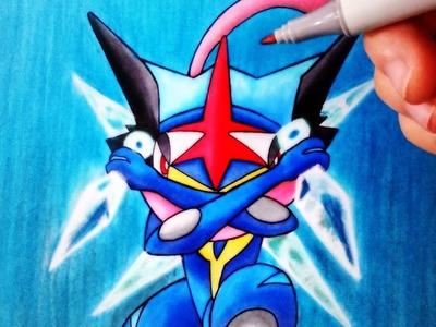 Cómo Dibujar a Greninja Ash | Pokemon | ArteMaster