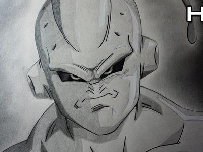 Cómo Dibujar a Majin Buu Flaco Enojado Paso a Paso a Lápiz - Dibujo Fácil de Majin Buu - Dragon Ball