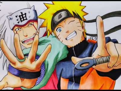 Cómo Dibujar a Naruto y Jiraiya | ArteMaster | How to draw Naruto and Jiraiya