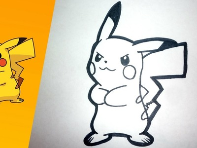 Como dibujar a PIKACHU paso a paso |  how to draw PIKACHU step by step