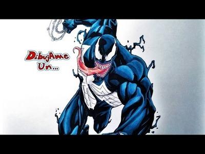 Como dibujar a VENOM. How to draw VENOM from the amazing SPIDERMAN. Dibujame un