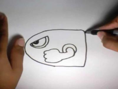 Como dibujar la Bala Mario Bros l How to draw the Mario Bros Bullet