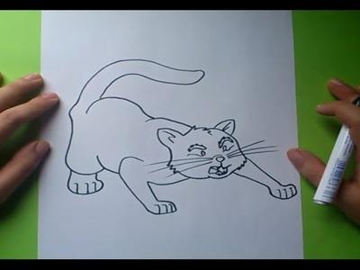 Como dibujar un gato paso a paso 5 | How to draw a cat 5