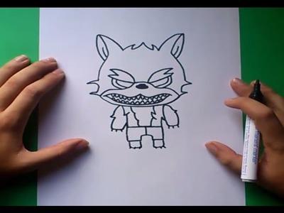 Como dibujar un hombre lobo paso a paso 2 | How to draw a werewolf 2