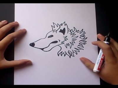 Como dibujar un lobo paso a paso | How to draw a wolf