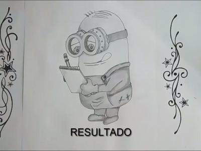 Como dibujar un minion | How to draw a minion
