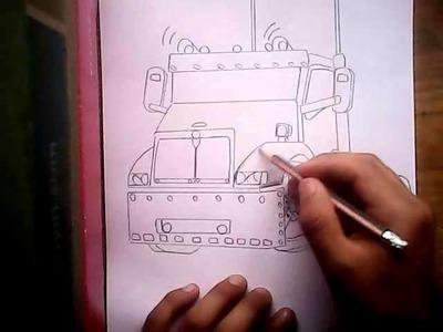Como dibujar un tráiler con luses