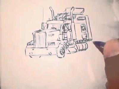 Como dibujar un trailer