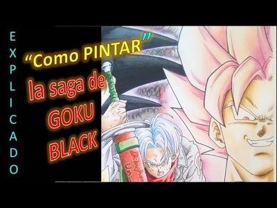 COMO PINTAR la saga de black (2da parte). How to paint Black Goku´s Saga