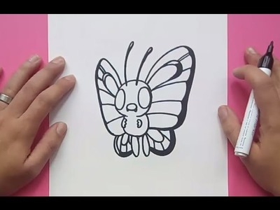 Como dibujar a Butterfree paso a paso - Pokemon | How to draw Butterfree - Pokemon