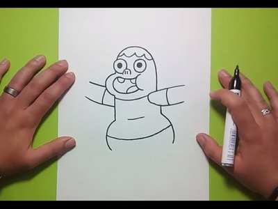 Como dibujar a Clarence paso a paso 2 - Clarence | How to draw Clarence 2 - Clarence