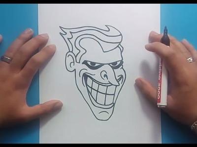 Como dibujar a el Joker paso a paso - Batman | How to draw the Joker - Batman