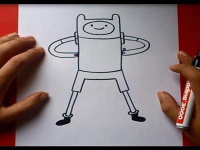 Como dibujar a Finn con cuerpo paso a paso 2 - Hora de aventuras | How to draw Finn 2