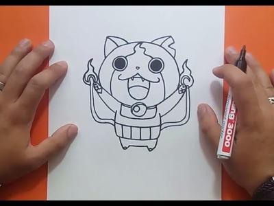 Como dibujar a Jibanyan paso a paso - Yo Kai Watch | How to draw Jibanyan - Yo Kai Watch