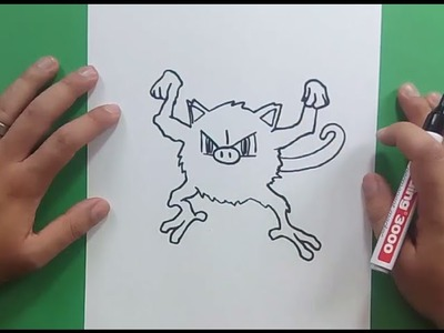 Como dibujar a Mankey paso a paso - Pokemon | How to draw Mankey - Pokemon