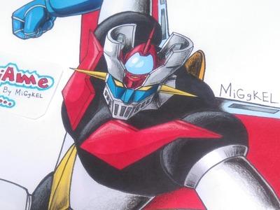 Como Dibujar a MAZINGER Z (nueva seccion del canal). How to draw Mazinger Z