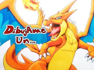 Como dibujar a Mega CHARIZARD. How to draw Mega CHARIZARD