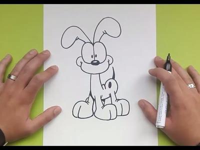 Como dibujar a Odie paso a paso - El show de garfield | How to draw Odie - The Garfield Show