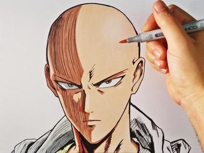 Cómo Dibujar a Saitama (One-Punch Man) | How to draw Saitama One Punch | ArteMaster