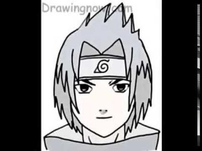 Cómo dibujar a Sasuke de Naruto