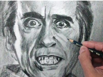 Como Dibujar Retratos: como dibujar a Dracula: Tecnicas de dibujo con lápiz