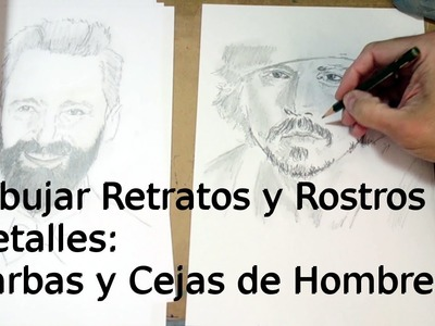 Cómo Dibujar Retratos y Rostros 6: Dibujar Barbas y Cejas | Técnica de Dibujo de Retrato