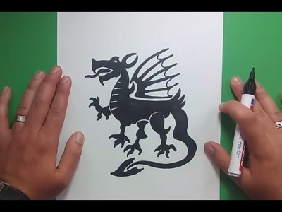 Como dibujar un dragon paso a paso 11 | How to draw one dragon 11