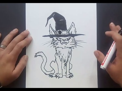 Como dibujar un gato paso a paso 25 | How to draw a cat 25