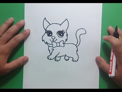 Como dibujar un gato paso a paso 24 | How to draw a cat 24