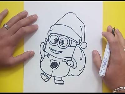 Como dibujar un minion paso a paso 4 - Minions | How to draw a minion 4 - Minions