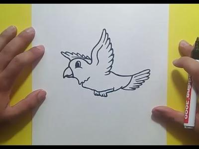 Como dibujar un pajaro paso a paso 5 | How to draw a bird 5