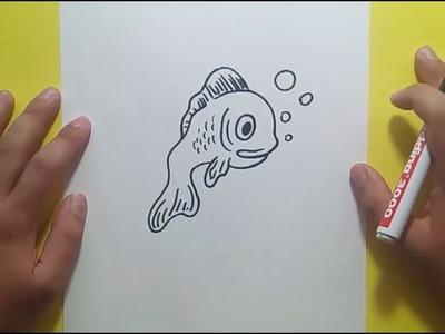 Como dibujar un pez paso a paso 19 | How to draw a fish 19