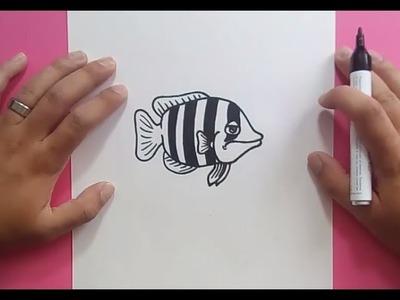 Como dibujar un pez paso a paso 15 | How to draw a fish 15