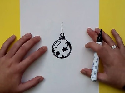 Como dibujar una bola de arbol de navidad paso a paso 4 | How to draw a ball of Christmas tree 4