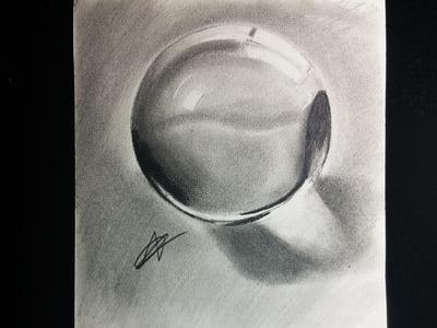 Cómo dibujar una esfera o bola de cristal