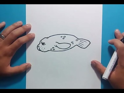 Como dibujar una foca paso a paso | How to draw a seal
