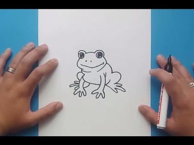 Como dibujar una rana paso a paso 6 | How to draw a frog 6