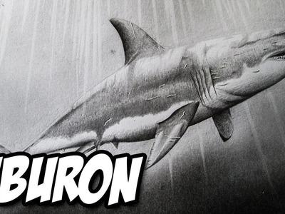 Dibujando un Tiburón Blanco a lápiz | Versión Rápida