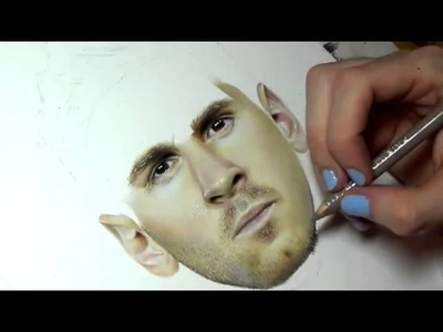 Revolucionó las redes sociales con un dibujo de Leo Messi hecho con lápices