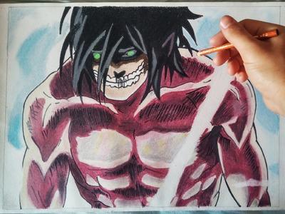 Cómo dibujar a Eren en forma TITÁN | Shingeki no Kyojin | How to draw Eren titan