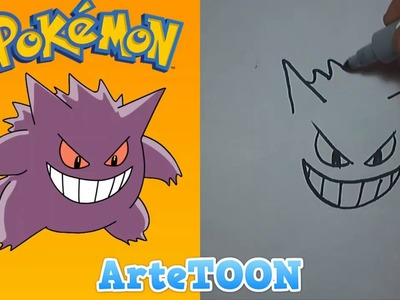 "Como dibujar a GENGAR paso a paso | how to draw GENGAR step by step ""ESPECIAL HALLOWEEN"""