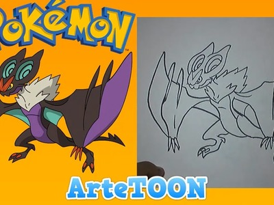 Como dibujar a Noivern de ash paso a paso | how to draw ash Noivern  step by step