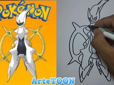 Como dibujar paso a paso a Arceus (Pokemon) - Como Dibujar una Pokeball - How to draw a Arceus