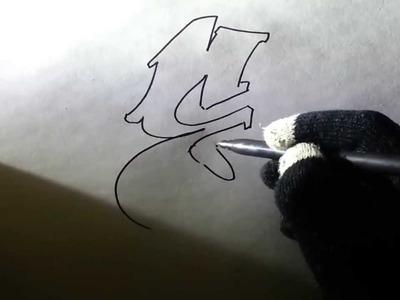Como hacer letras en 3D de graffiti dibujos a lapiz faciles para dibujar paso a paso - Zartiex [HD]