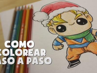 COMO COLOREAR CON LAPICES PASO A PASO - COLOR AS STEP BY STEP - Como colorear a Goku - En Español